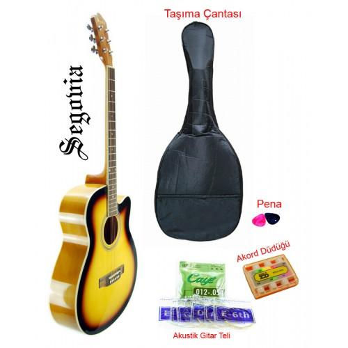 Gitar Akustik Cutaway Segovia SGA40SB