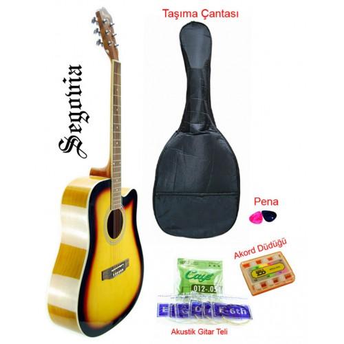 Gitar Akustik Cutaway Segovia SGA41SB