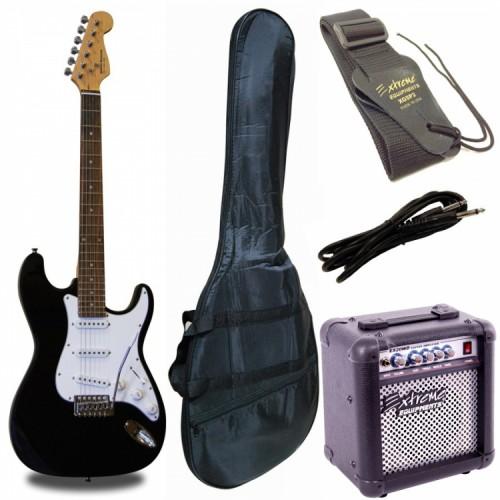 Elektro Gitar Seti MRE3BKEX20WD